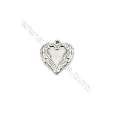 304 Stainless Steel Pendant  Heart  Size 20x22mm  60pcs/pack