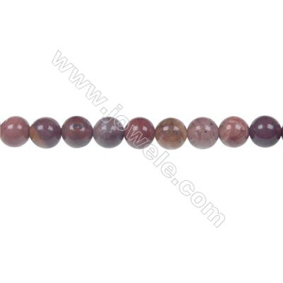 Red porcelain jasper 6mm round strand bead, Hole 1mm, 62 beads/strand, 15~16""