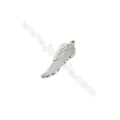 304 Stainless Steel Pendant  Wing  Size 13x38mm  60pcs/pack