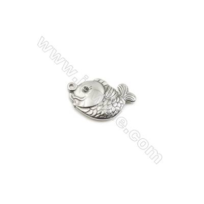 304 Stainless Steel Pendant  Fish  Size 16x25mm  60pcs/pack