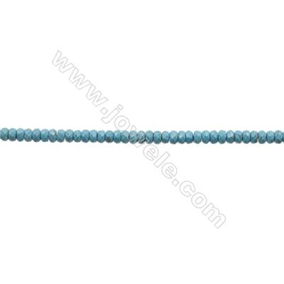Howlite Abacus Beads Strand  Dyed Blue  Faceted  Size 4x6mm  Hole 0.6mm  about 100 beads/strand 15~16""