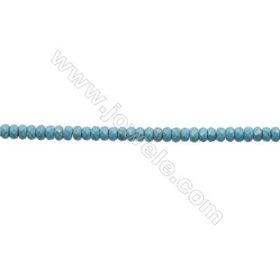 Howlite Abacus Beads Strand  Dyed Blue  Faceted  Size 5x8mm  Hole 0.8mm  about 83 beads/strand 15~16""