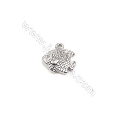 304 Stainless Steel Pendant  Fish  Size 17x17mm  60pcs/pack