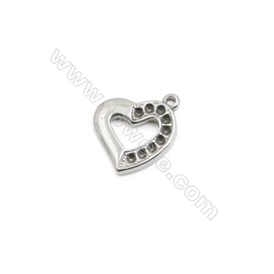 304 Stainless Steel Pendant  Heart  Size 19x20mm  60pcs/pack