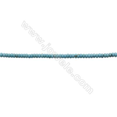 Howlite Abacus Beads Strand  Dyed Blue  Size 2x4mm  Hole 0.6mm  about 200 beads/strand 15~16""