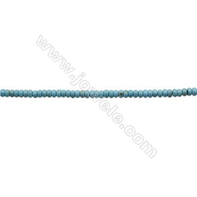Howlite Abacus Beads Strand  Dyed Blue  Size 3x6mm  Hole 0.6mm  about 133 beads/strand 15~16""