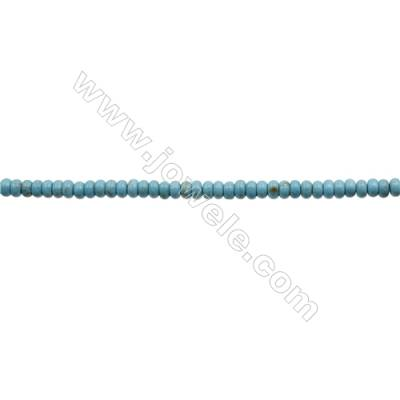 Howlite Abacus Beads Strand  Dyed Blue  Size 3x8mm  Hole 0.6mm  about 133 beads/strand 15~16""