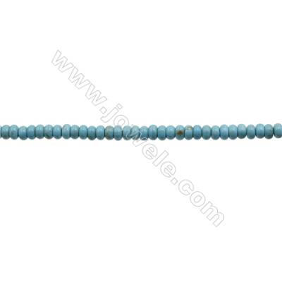 Howlite Abacus Beads Strand  Dyed Blue  Size 4x6mm  Hole 0.8mm  about 100 beads/strand 15~16""