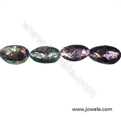 Wholesale Abalone/Paua shell oval beads strand, Size 20x34 mm, Hole 1.5 mm, about 13 beads/strand, 15 ~ 16""