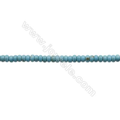 Howlite Abacus Beads Strand  Dyed Blue  Size 5x8mm  Hole 0.8mm  about 80 beads/strand 15~16""