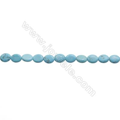 Howlite Oval Beads Strand  Dyed Blue  Size 8x10mm  Hole 0.8mm  about 40 beads/strand 15~16""