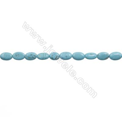 Howlite Oval Beads Strand  Dyed Blue  Size 8x12mm  Hole 0.8mm  about 33 beads/strand 15~16""