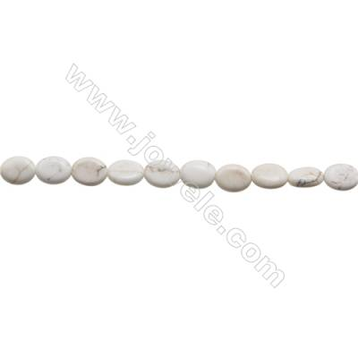 Howlite Oval Beads Strand  Size 8x10mm  Hole 0.8mm  about 40 beads/strand 15~16""
