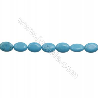 Howlite Oval Beads Strand  Dyed Blue  Size 13x18mm  Hole 1mm  about 22 beads/strand 15~16""