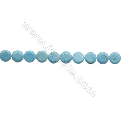 Howlite Rondelle Beads Strand  Dyed Blue  Diameter 12mm  Hole 0.8mm  about 33 beads/strand 15~16""