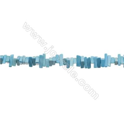 Howlite Triangle Beads Strand  Dyed Blue  Size 6x12mm  Hole 0.8mm  about 216 beads/strand 31~32""