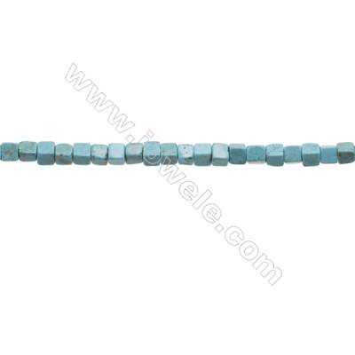 Howlite Square Beads Strand  Dyed Blue  Size 4x4mm  Hole 0.6mm  about 100 beads/strand 15~16""