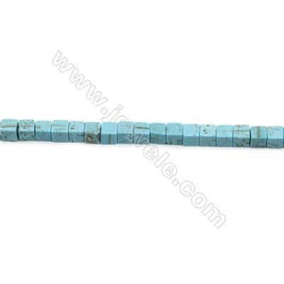 Howlite Square Beads Strand  Dyed Blue  Size 6x6mm  Hole 0.6mm  about 66 beads/strand 15~16""