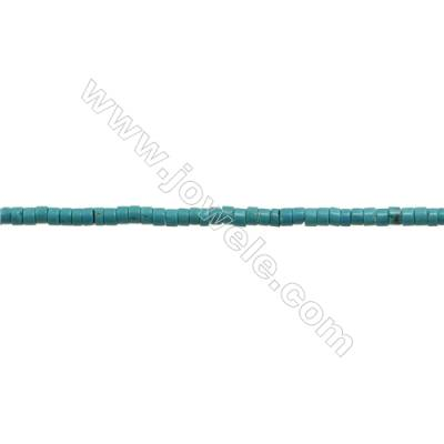 XinJiang Turquoise Column Beads Strand  Dyed   Size 3x6mm  Hole 0.6mm  about 133 beads/strand 15~16""