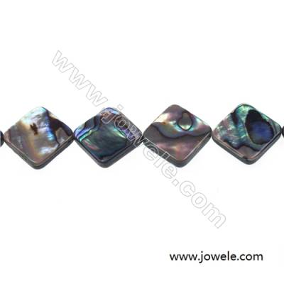 Abalone/Paua shell rhombic beads strand, Size 20x20 mm, Hole 1 mm, about 20 beads/strand, 15 ~ 16''