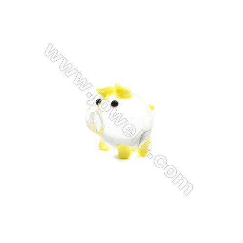 Lampwork Little Charms  Pig  Size 20x20mm   6pcs/pack
