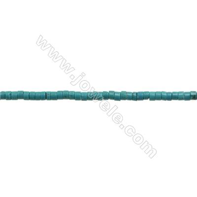 XinJiang Turquoise Column Beads Strand  Dyed   Size 4x8mm  Hole 0.8mm  about 100 beads/strand 15~16""