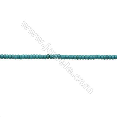 """XinJiang Turquoise Abacus Beads Strand  Dyed  Size 2x4mm  Hole 0.6mm  about 200 beads/strand 15~16"""""""