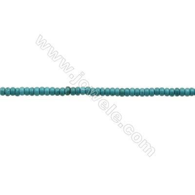 XinJiang Turquoise Abacus Beads Strand  Dyed  Size 3x6mm  Hole 0.6mm  about 133 beads/strand 15~16""