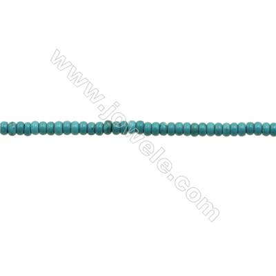 """XinJiang Turquoise Abacus Beads Strand  Dyed  Size 4x8mm  Hole 0.8mm  about 100 beads/strand 15~16"""""""