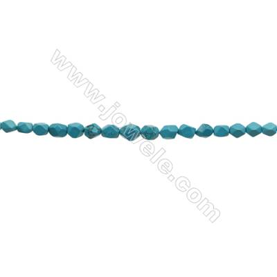 XinJiang Turquoise Faceted Tower Chain  Dyed   Size 10~15mm  Hole 1.5mm   15~16inch