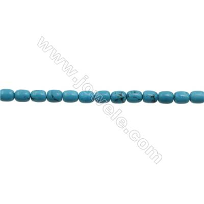 XinJiang Turquoise Column Beads Strand  Dyed   Size 5x8mm  Hole 0.8mm  about 50 beads/strand 15~16""