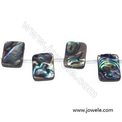 Abalone/Paua shell square beads strand, Size 13x18 mm, Hole 0.8 mm, 22 beads/strand