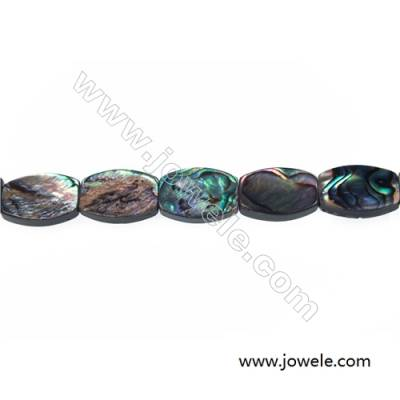 Abalone/Paua shell strand beads, Oval, Size 13x18 mm, Hole 1 mm, about 22 beads/strand, 15 ~ 16""