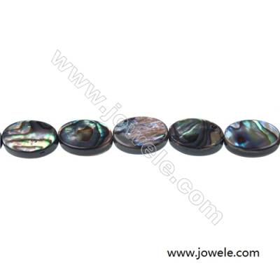 Abalone/Paua shell oval shaped strand beads, Size 8x12mm, Hole 0.8 mm, about 33 beads/strand, 15 ~ 16''