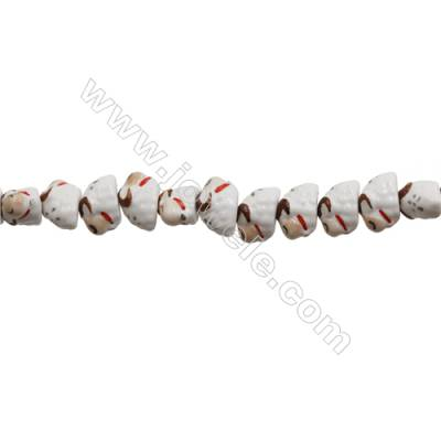 Handmade Mix Color Porcelain/Ceramic Beads Strands, Chinese Zodiac Lamb, Size 14x20mm, Hole 2mm, about 24 beads/strand