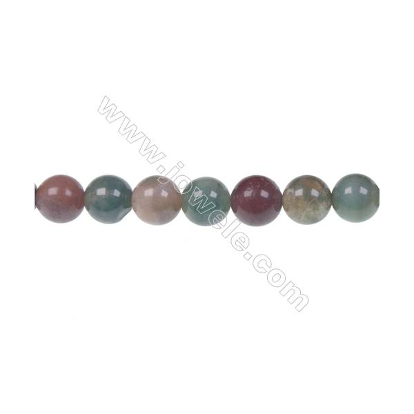 """Wholesale high quality fashion DIY loose beads Indian agate fancy jasper 8mm beads  hole 1mm  48 beads/strand  15~16"""""""