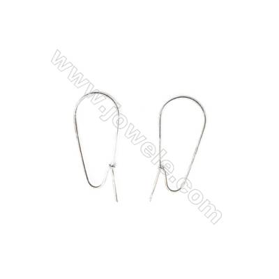925 Sterling Silver Earring hoop-H1857 Size 13x30mm  Pin 0.7mm  Hole 0.8mm  40pcs/pack