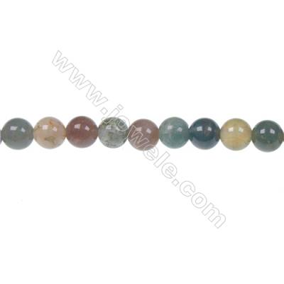 Wholesale high quality fashion DIY loose beads Indian agate fancy jasper 6mm beads  hole 1mm  62 beads/strand  15~16""