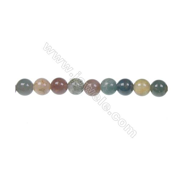 Fashion DIY loose beads Indian agate fancy jasper 6mm beads, Hole 1mm, 62  beads/strand, 15~16