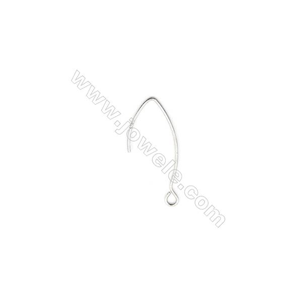 925 Sterling Silver Earring hook-H2219 Size 34x15mm  Pin 0.9mm  Hole 2.5mm  30pcs/pack