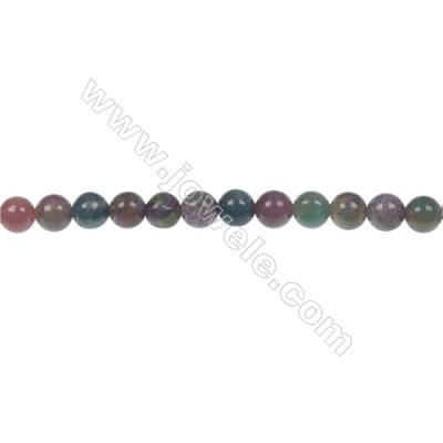 Wholesale high quality fashion DIY loose beads Indian agate fancy jasper 4mm beads  hole 0.8mm  93 beads/strand  15~16""