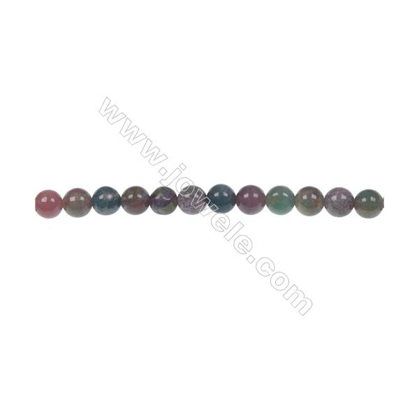 """Wholesale high quality fashion DIY loose beads Indian agate fancy jasper 4mm beads  hole 0.8mm  93 beads/strand  15~16"""""""