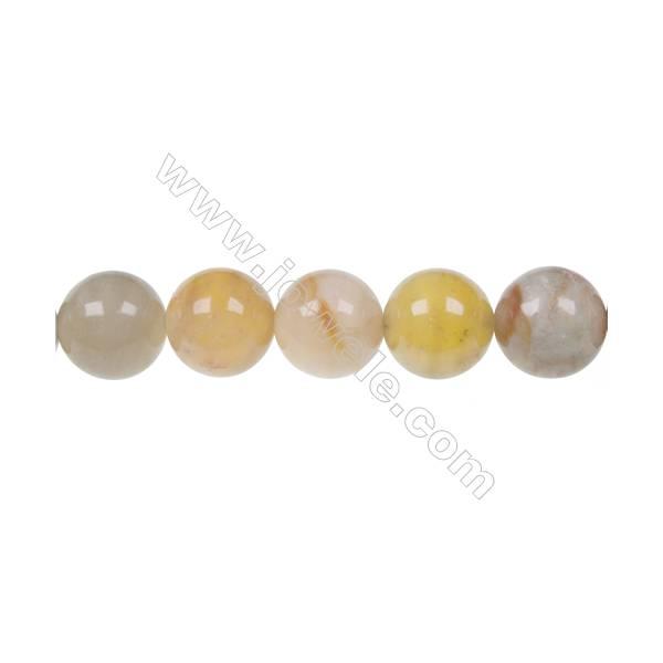 """Round flower jade strand beads, Diameter 12mm, Hole 1.2mm, 34 beads/strand, 15~16"""""""