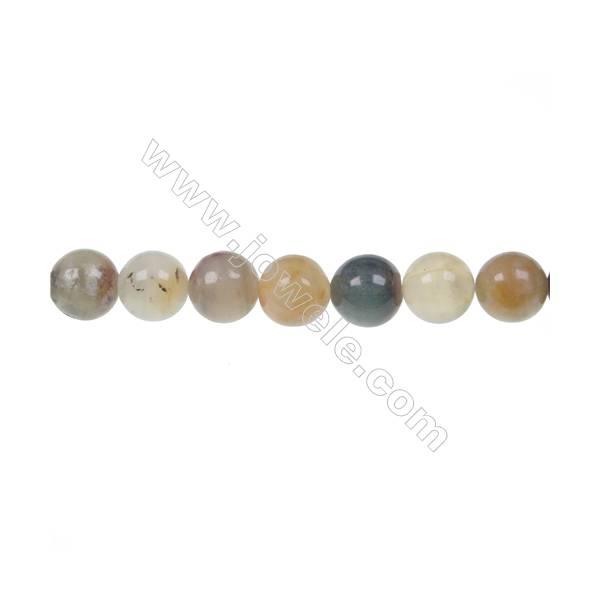 """Round flower jade strand beads, Diameter 10mm, Hole 1mm, 41 beads/strand, 15~16"""""""