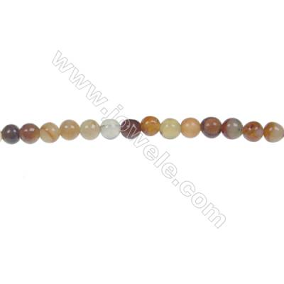Round flower jade strand beads, Diameter 4mm, Hole 0.8mm, 102 beads/strand, 15~16""