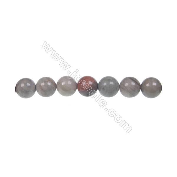 "Semiprecious Silver Mist Jasper round strand beads, 8mm, Hole 1mm, 49beads/strand, 15~16"""