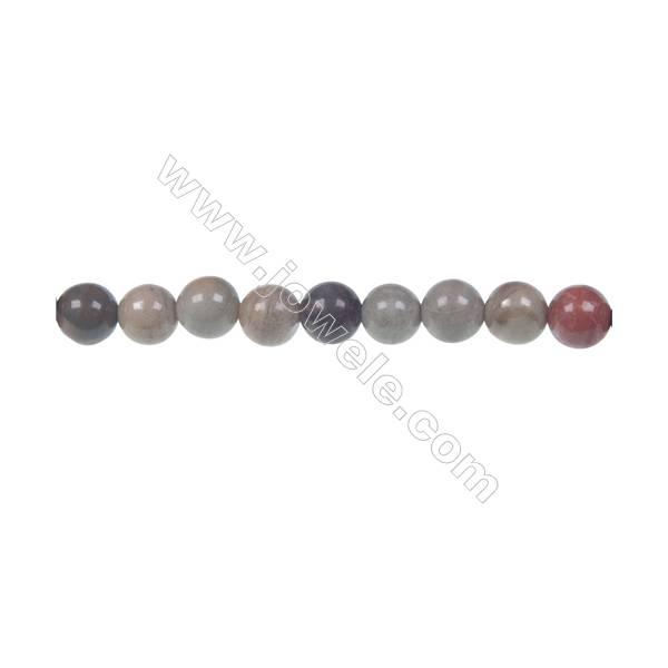 "Semiprecious Silver Mist Jasper round strand beads, 6mm, Hole 1mm, 66 beads/strand, 15~16"""