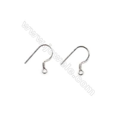 925 Sterling Silver Earring hook  Size 14x18mm  Pin 0.6mm  Hole 2mm  60pcs/pack