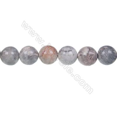 Sky eye jasper loose beads, Round, Diameter 10 mm, Hole 1mm, 40 beads/strand, 15~16""