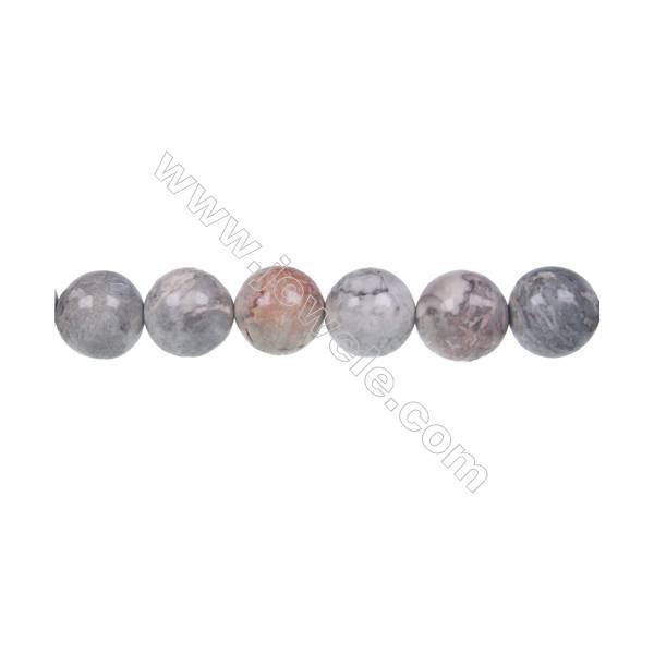 "Sky eye jasper loose beads, Round, Diameter 10 mm, Hole 1mm, 40 beads/strand, 15~16"""